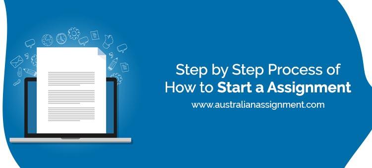 How to start an assignment